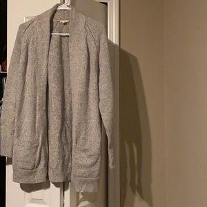 Thigh length cardigan